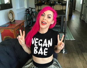 Vegan Bae Crop Top
