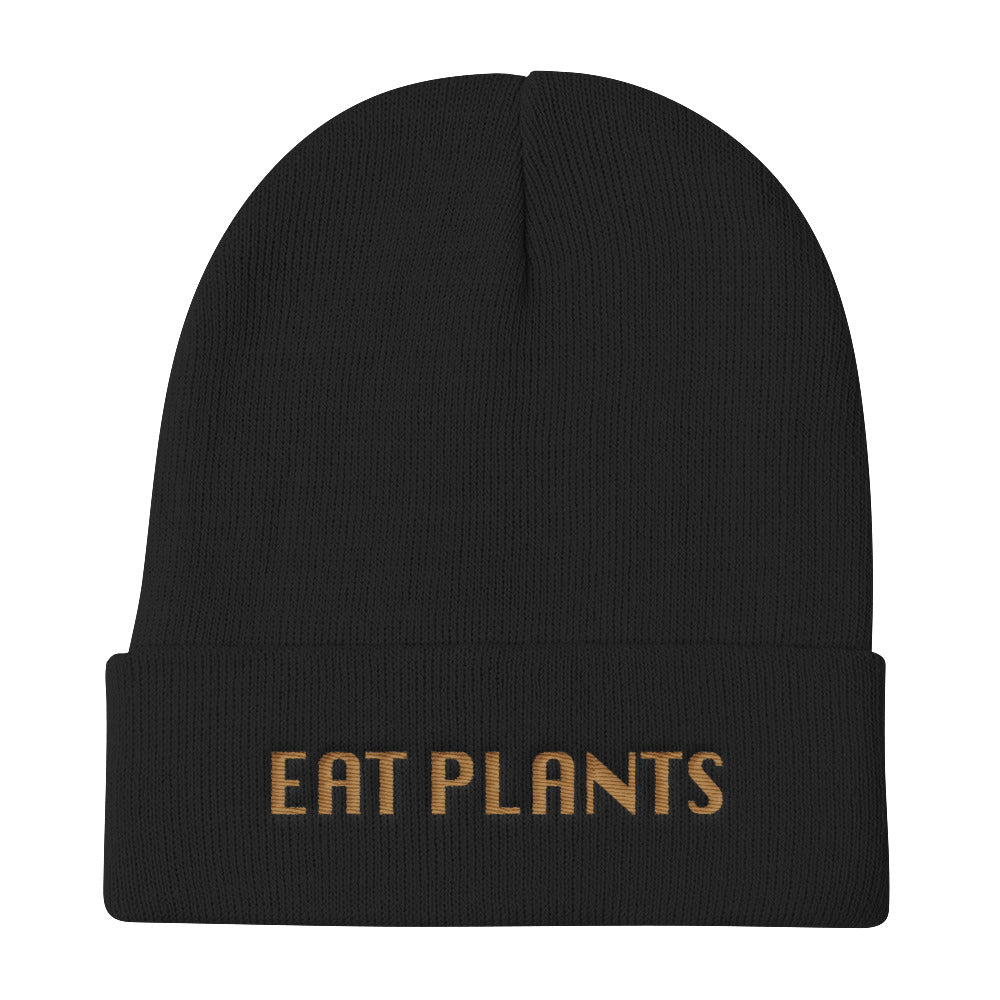 Vegan Knit Beanie Black