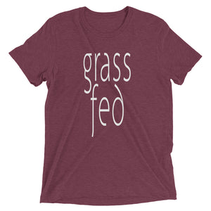 Grass Fed T-shirt Maroon