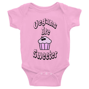 Vegans Are Sweeter Baby Onesie Pink