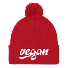 Retro Vegan Pom Pom Knit Cap