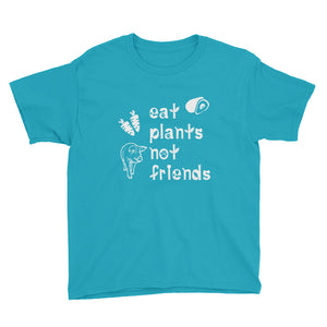 Eat Plants Not Friends Short Sleeve Youth T-Shirt Caribbean