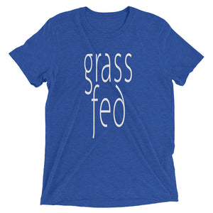 Grass Fed Unisex T-shirt Royal Blue
