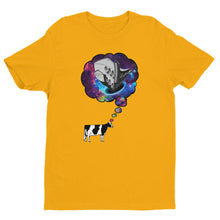 Mens Cow Thought T-shirt Yellow