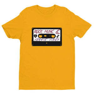 Rock Music & Veggie Vibes T-shirt Gold