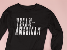 Vegan-American Long Sleeve Fitted Crew