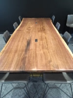 Live Edge Dining Table - 4/4 Walnut