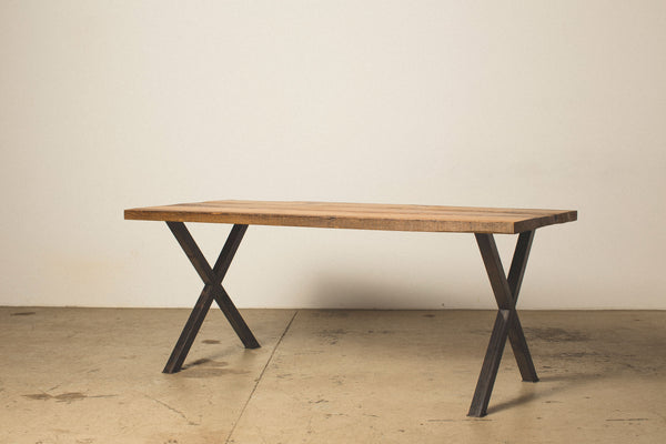 "Dining Table with ""X"" Legs"