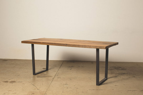 Dining Table with Square Steel Legs