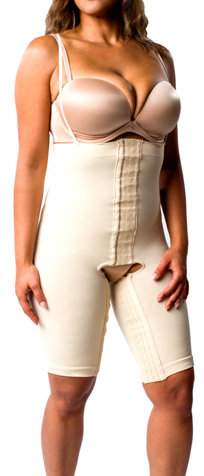 High Waist Compression Short with Hook and Eye