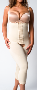 High Waist Compression Capri with Hook & Eye