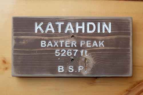 Katahdin - Baxter Peak Sign