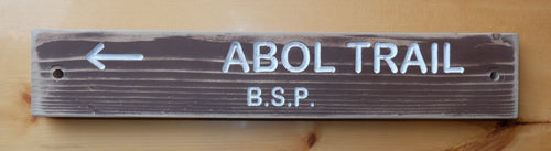 Abol Trail Sign