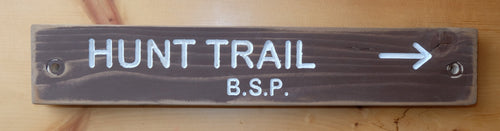 Hunt Trail Sign