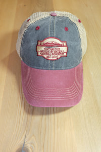 Katahdin Woods and Waters Monument Hat - Cranberry/Blue