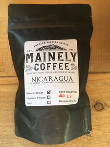 Mainely Coffee - Nicaragua Blend