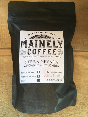Mainely Coffee - Sierra Nevada - Organic