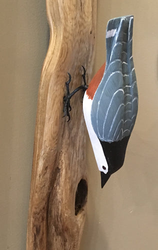 Nuthatch - Handcrafted Wooden Bird
