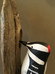 Downy Woodpecker - Handcrafted Wooden Bird