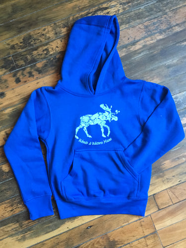 Flowery Moose Hoodie - Youth Sizes Only