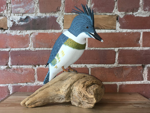 Kingfisher - Handcrafted Wooden Bird