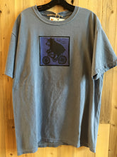Bicycling Bear Adult T-Shirt - purple