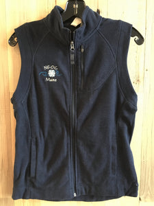 Fleece Vest Jacket - Navy Blue