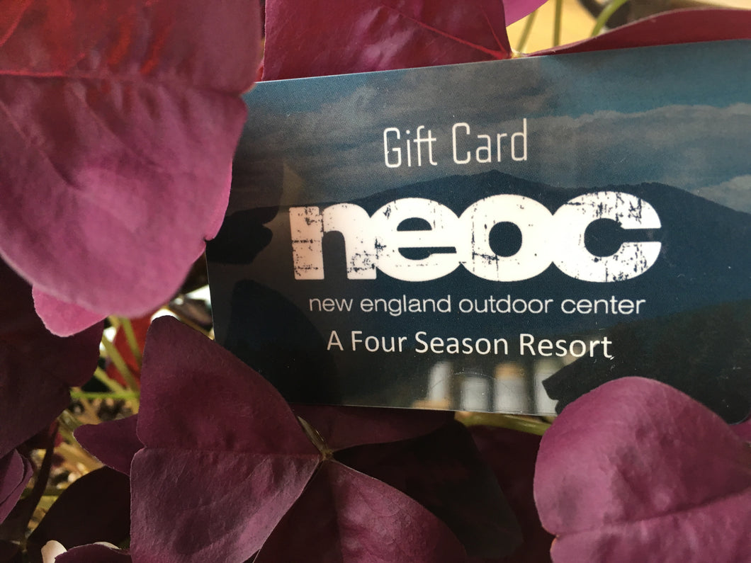 $50 PREPAID GIFT CARD for NEOC (New England Outdoor Center)