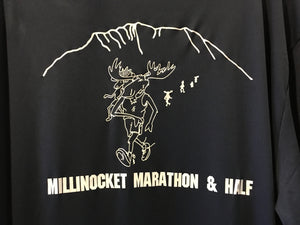 Millinocket Marathon Adult Long Sleeve Shirt - Navy Blue