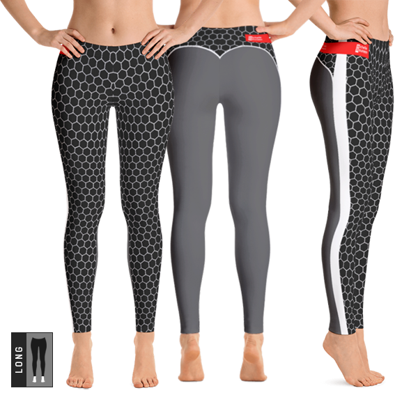 HXG Collection Grey Workout Leggings - All Views