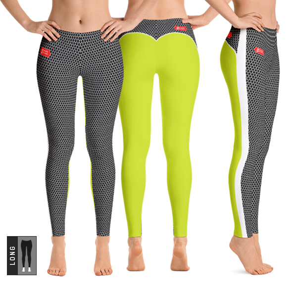 HXS Collection Green Workout Leggings - All Views