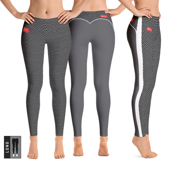 HXS Collection Grey Workout Leggings - All Views