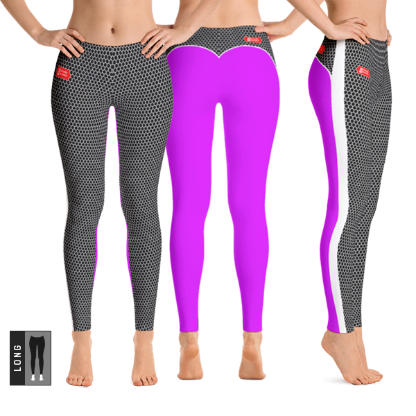 HXS Collection Pink Workout Leggings - All Views