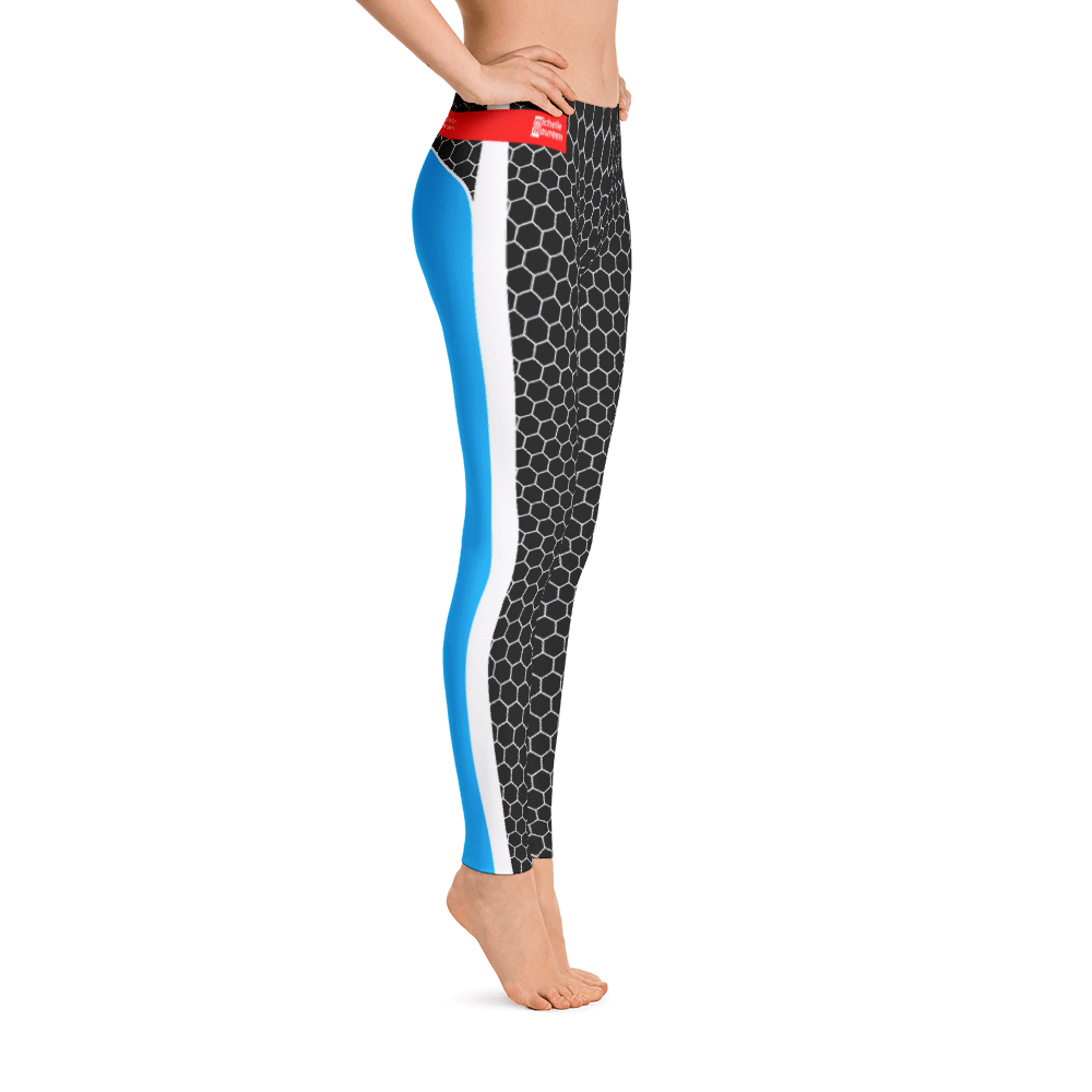 HXG Collection Blue Workout Leggings - Michelle Maureen