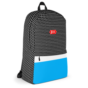 HXS Collection Blue Backpack - Left View