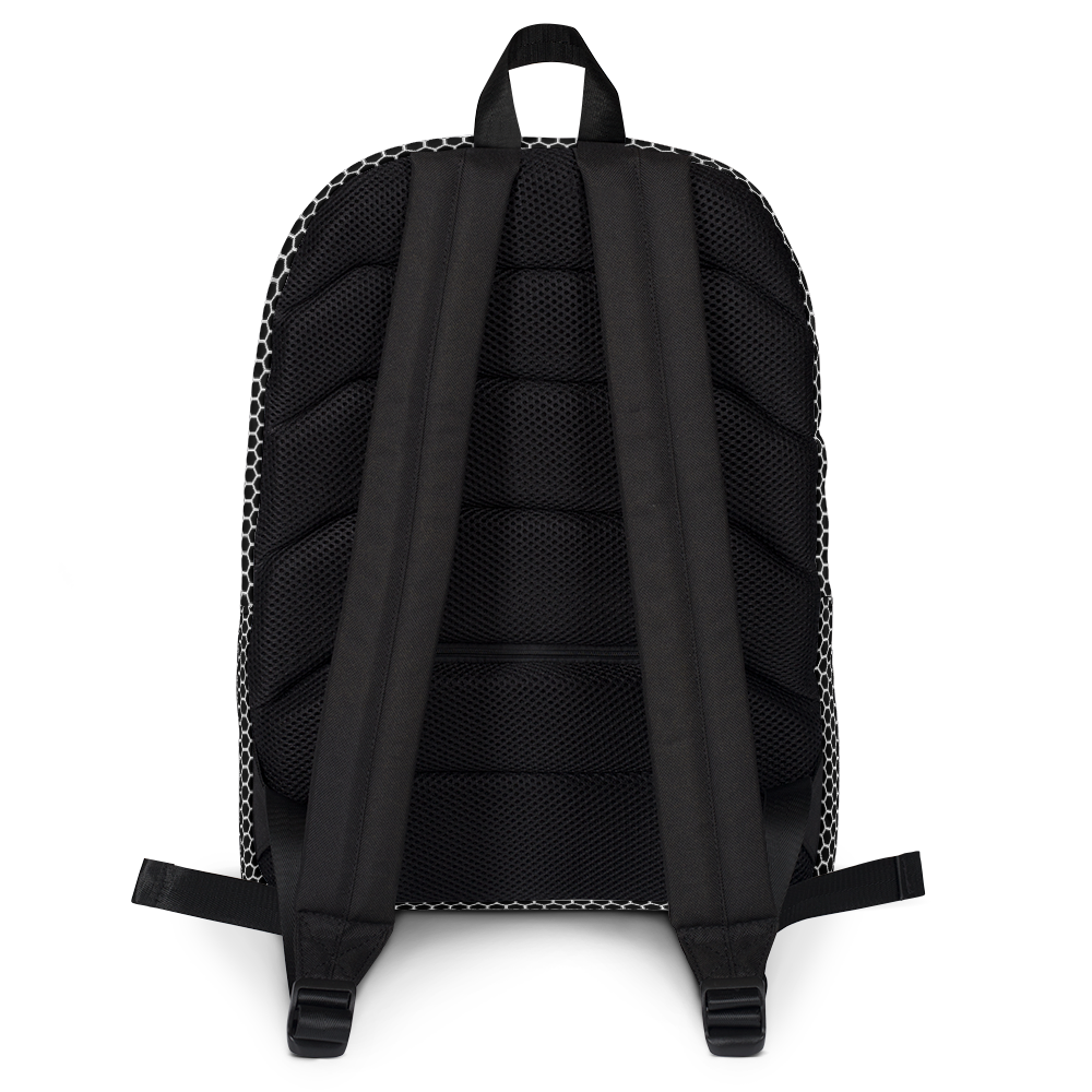 HXS Collection Grey Backpack - Back View