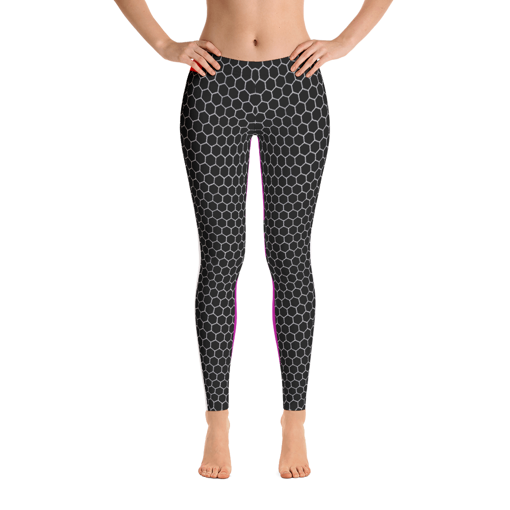 HXG Collection Pink Workout Leggings - Front