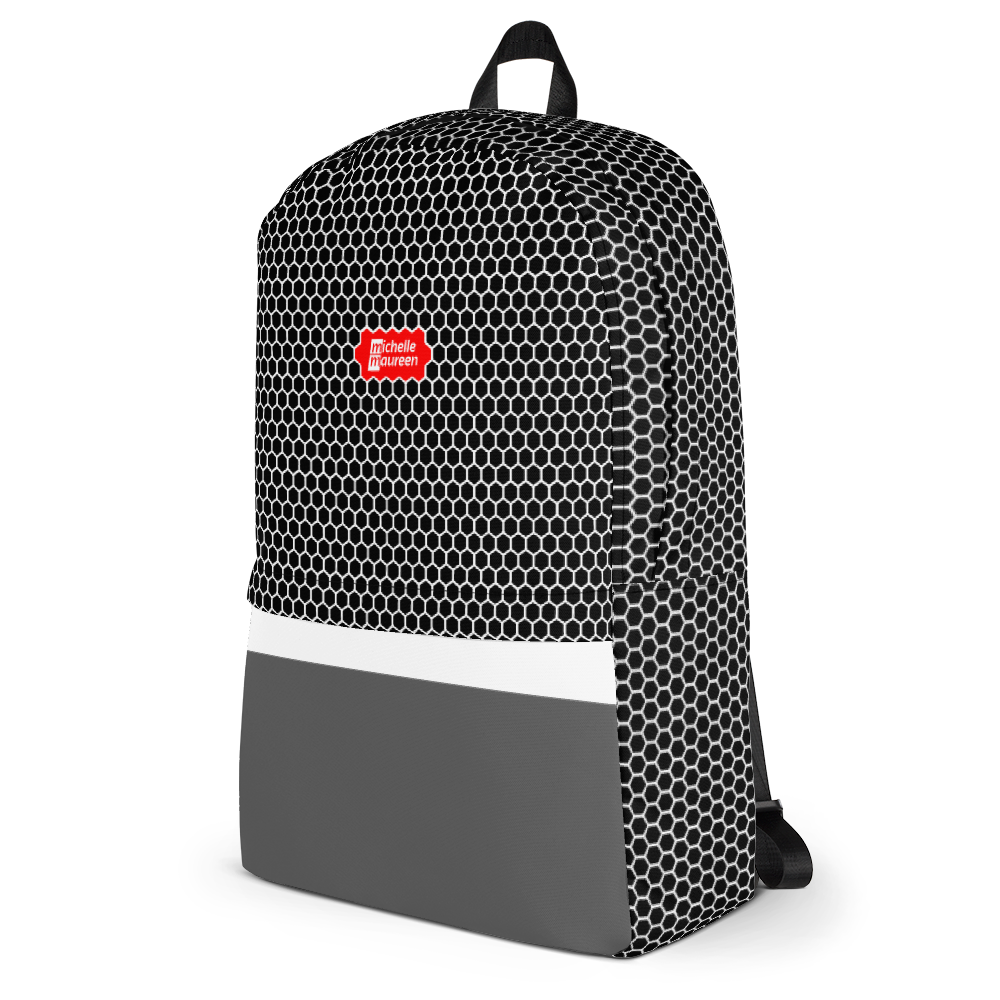 HXS Collection Grey Backpack - Left View