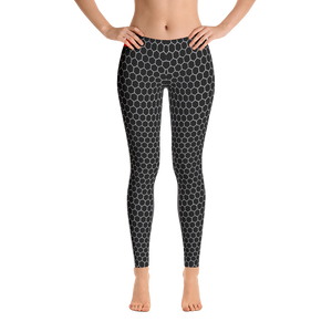 HXG Collection Grey Workout Leggings - Front