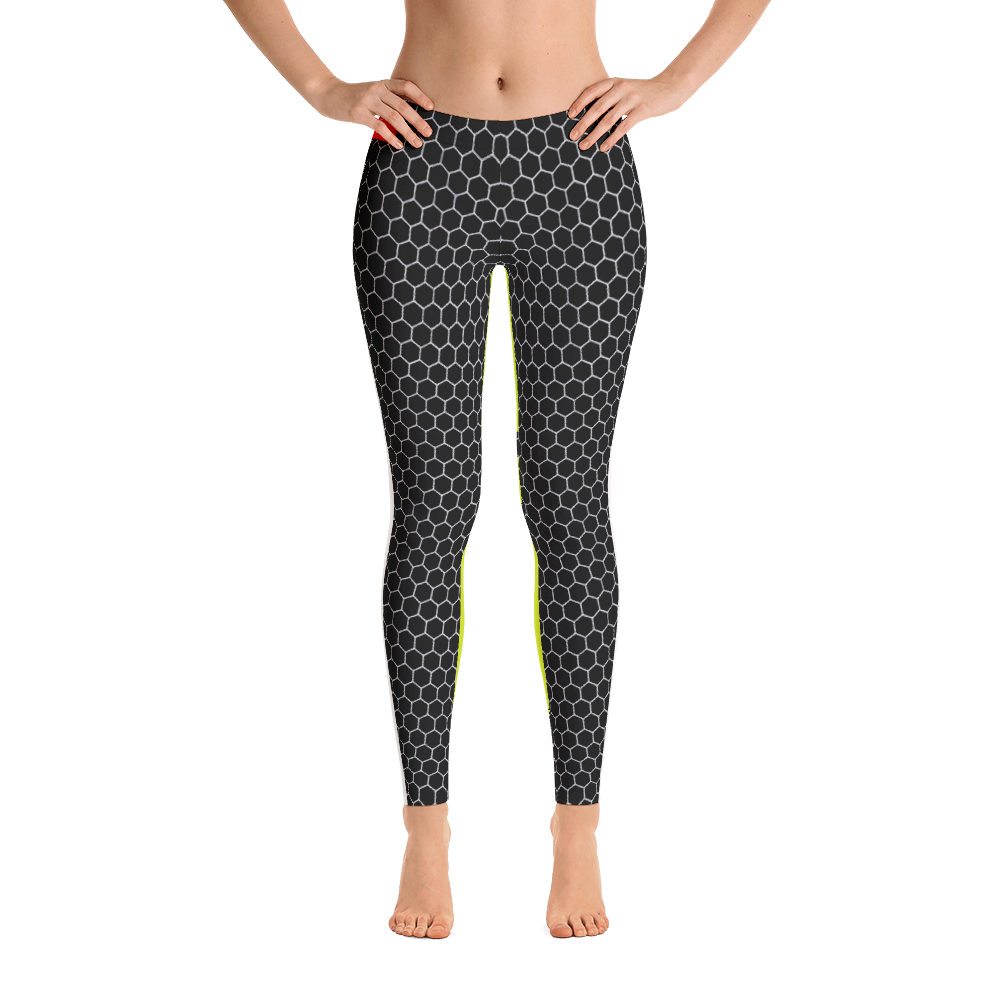 HXG Collection Green Workout Leggings - Front