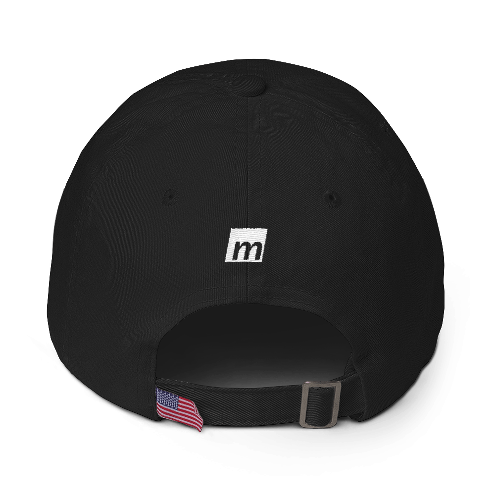 Branded Black Cotton Cap - Michelle Maureen