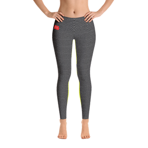 HXS Collection Green Workout Leggings - Front