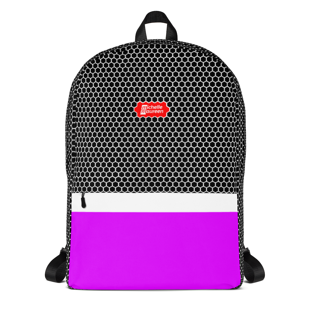 HXS Collection Pink Backpack - Front View