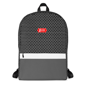 HXS Collection Grey Backpack - Front View