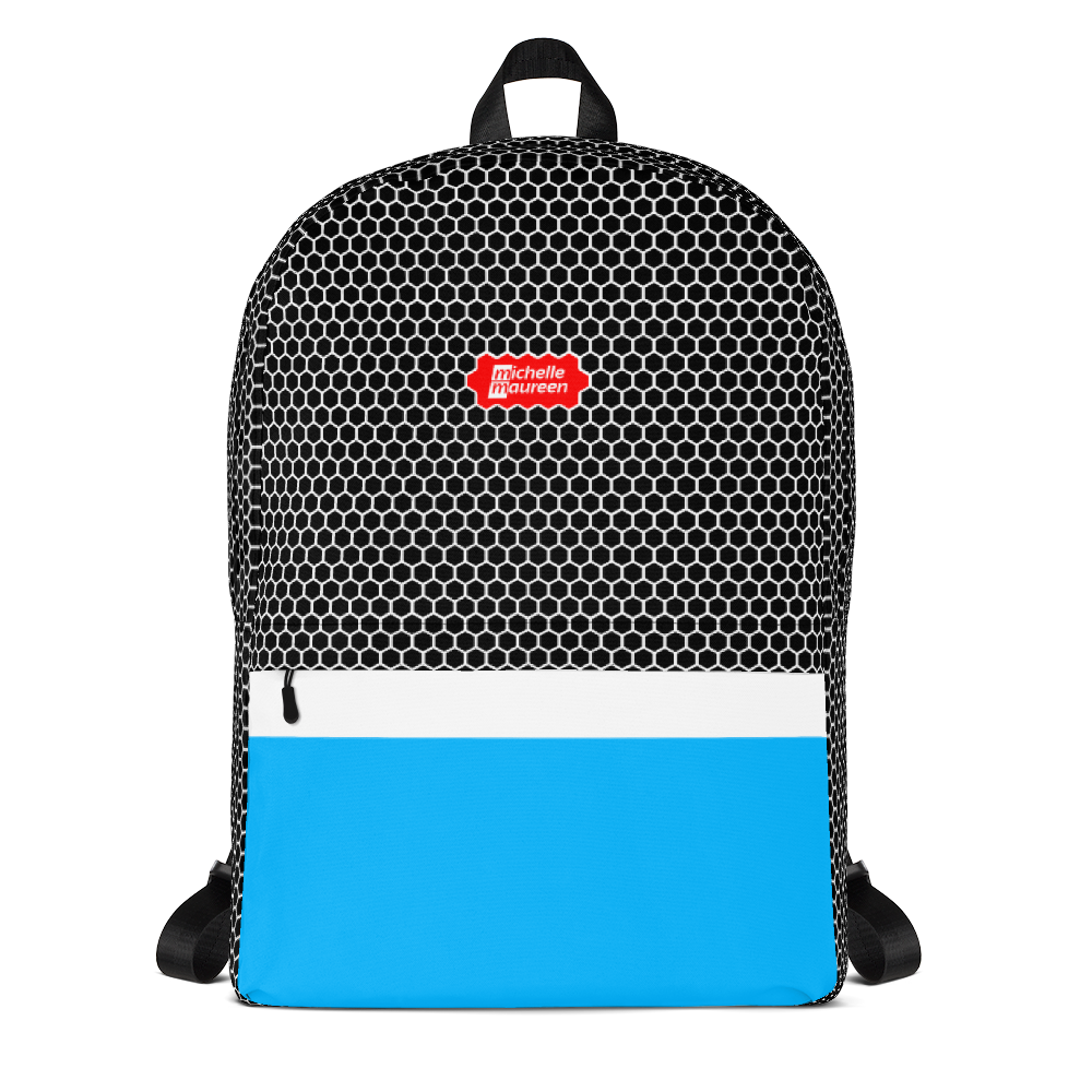 HXS Collection Blue Backpack - Front View