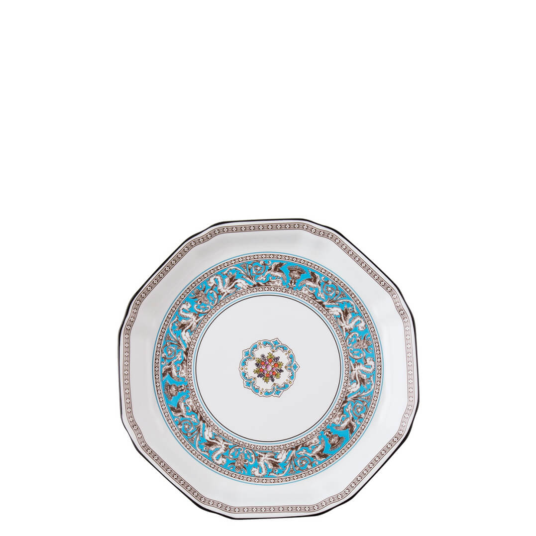 Florentine Turquoise Plate Octagonal