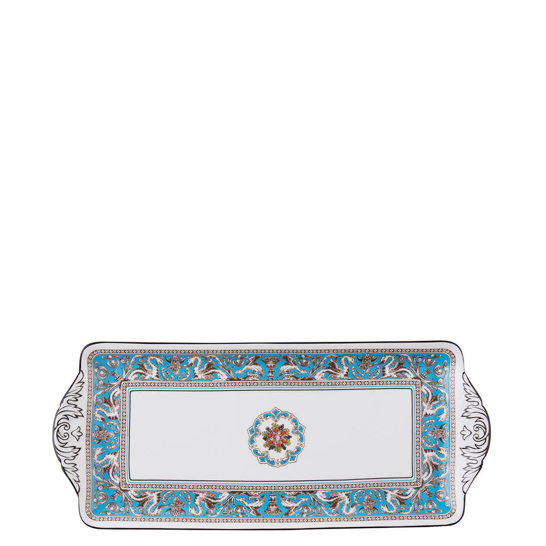 Florentine Turquoise Sandwich Tray