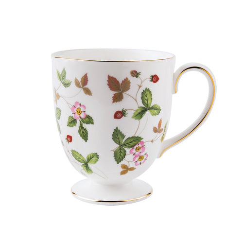 Wild Strawberry Footed Mug