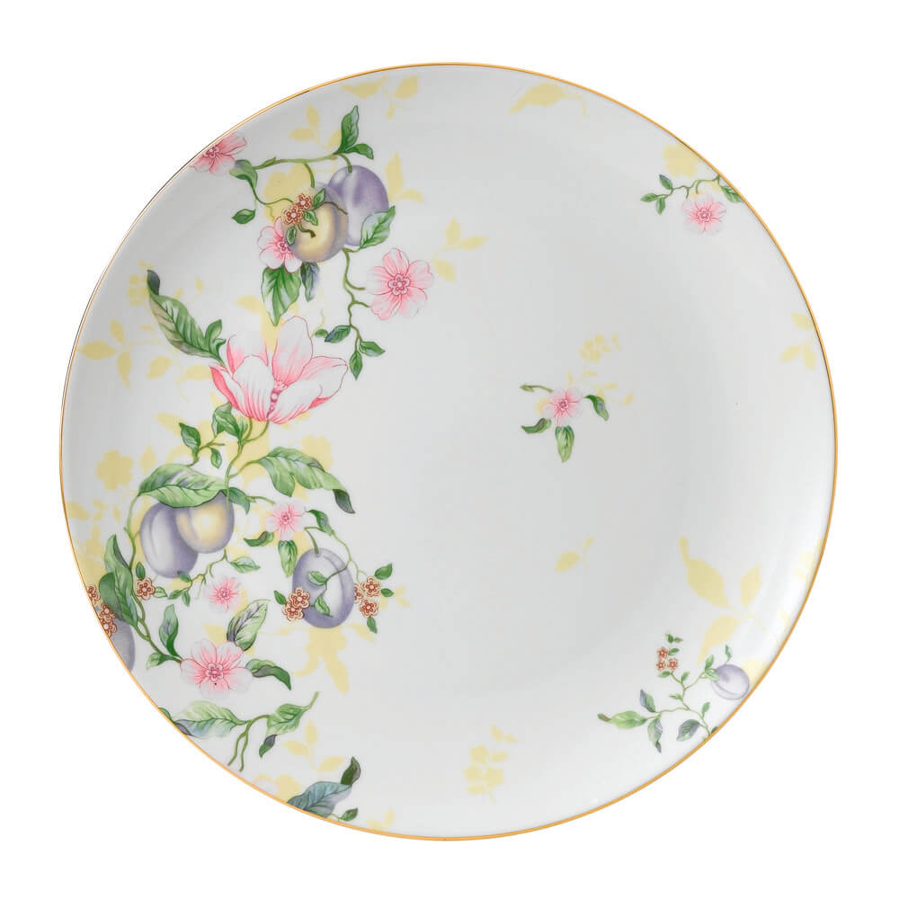 Sweet Plum Damask Coupe Plate 27cm
