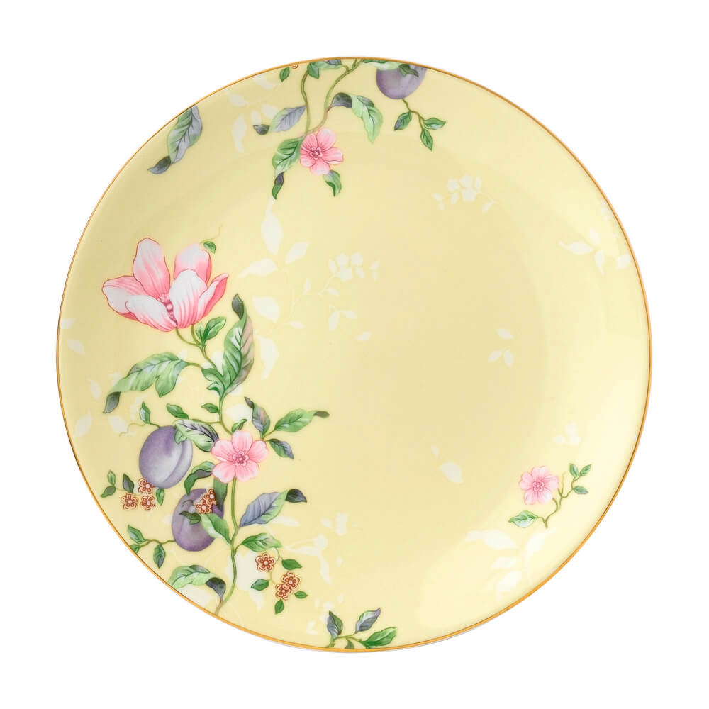 Sweet Plum Damask Coupe Plate 20cm